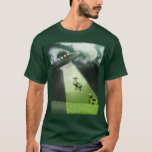 Camiseta cómica de la abducción de la vaca del UFO