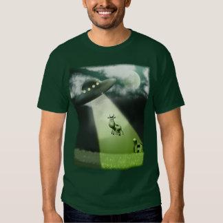 Camiseta cómica de la abducción de la vaca del UFO Remera