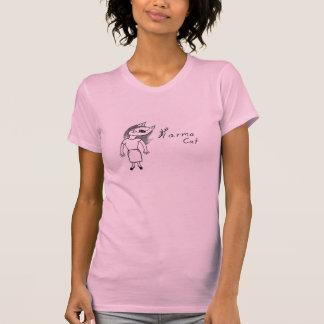 Camiseta cómica del gato de las karmas