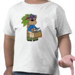 Camiseta cómica del niño de las vacaciones de vera