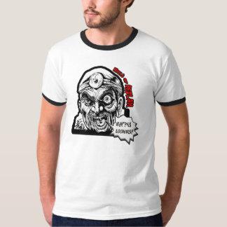 Camiseta cómica fracturada del campanero del arte poleras