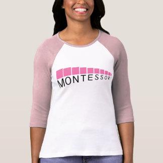 Camiseta cómoda de la manga de tres cuartos rosada playeras