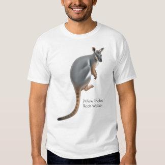 Camiseta con base amarilla del Wallaby de roca Polera