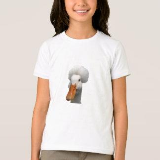 Camiseta con cresta blanca del pato