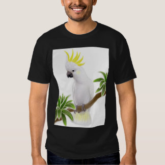 Camiseta con cresta del Cockatoo del azufre Playeras