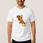 Camiseta con cresta del Gecko (naranja) Camisas