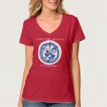 Camiseta con cuello de pico con el logotipo de la remera