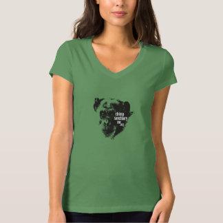 Camiseta con cuello de pico de Bella con la imagen Playeras