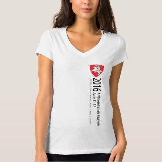 Camiseta con cuello de pico de la reunión de playera