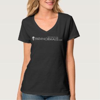 Camiseta con cuello de pico de las mujeres de playera