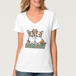 Camiseta con cuello de pico del club del Corgi de Remeras