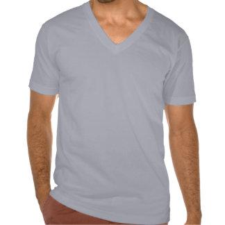 Camiseta con cuello de pico del fondo del AME (el Playeras