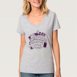 Camiseta con cuello de pico del fondo del AME (el Remeras