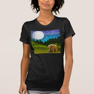 Camiseta con cuello de pico del grisáceo grande de