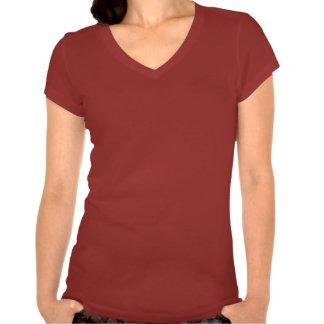 Camiseta con cuello de pico del jersey de Bella de