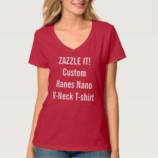 Camiseta con cuello de pico nana de Hanes de las Polera