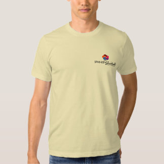 Camiseta con del logotipo la parte posterior playera