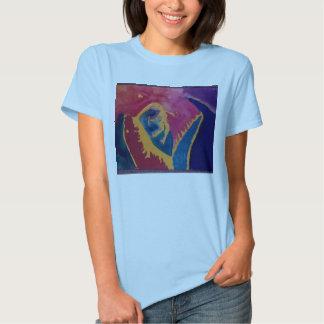 Camiseta con diseño de los mandíbulas del tiburón camisas