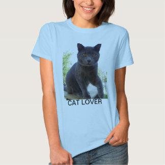 Camiseta con el AMANTE del CAT en el frente Playera