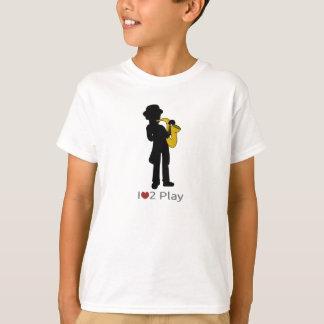 Camiseta con el ejemplo del jugador de saxofón remeras
