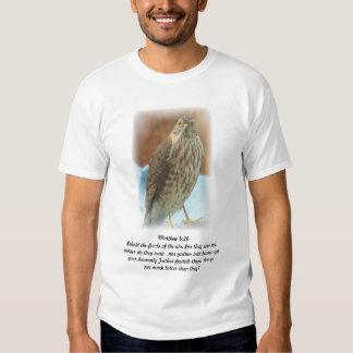 Camiseta con el pájaro de la escritura de la foto remera