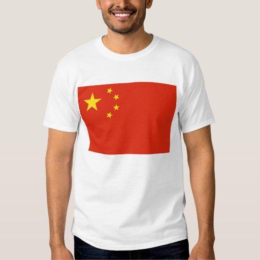 Camiseta con la bandera de China Poleras