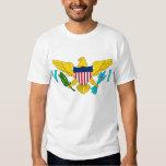 Camiseta con la bandera de las Islas Vírgenes los Polera