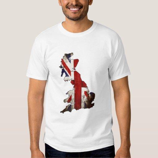 Camiseta con la bandera sucia de Gran Bretaña del Remeras