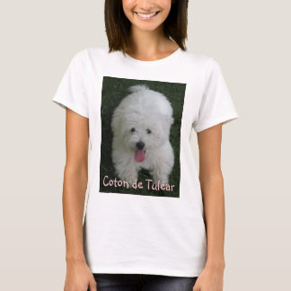 Camiseta con la foto del perro, algodón de Tulear