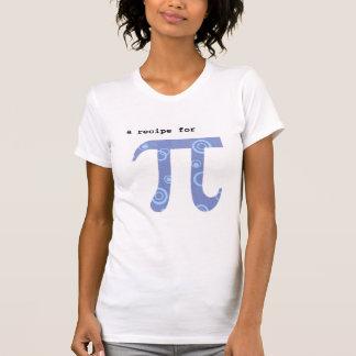 Camiseta con la receta del pi - humor de la