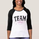 Camiseta con mangas de la novia 3/4 del equipo