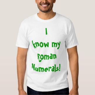 ¡Camiseta con números romanos memorables - adulto! Remera