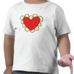 Camiseta con volantes del corazón