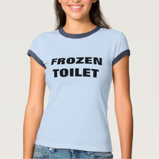 Camiseta congelada del penique del retrete