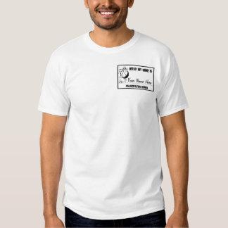 Camiseta conocida humana participante de la playera