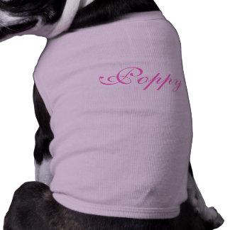 Camiseta conocida personalizada de la ropa del per ropa de perros
