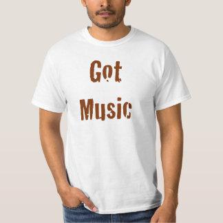 Camiseta conseguida de la música