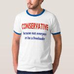 Camiseta conservadora divertida polera