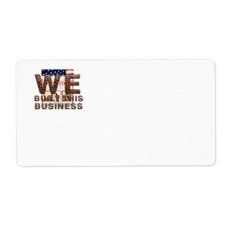CAMISETA construimos este negocio Etiquetas De Envío