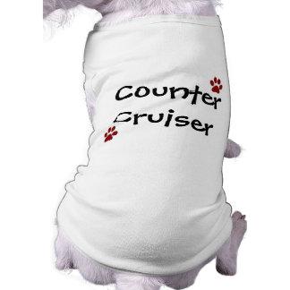 Camiseta contraria del perro del crucero playera sin mangas para perro