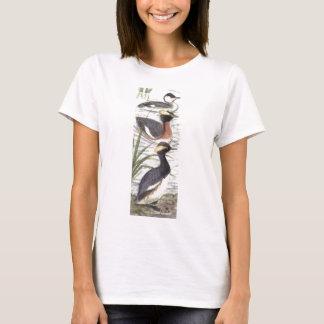 camiseta copetuda del grebe de las señoras