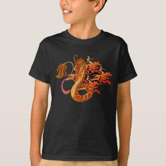 Camiseta coralina de la oscuridad del niño del polera