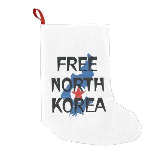 CAMISETA Corea del Norte libre Calcetín De Navidad Pequeño