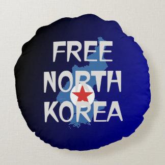 CAMISETA Corea del Norte libre Cojín Redondo