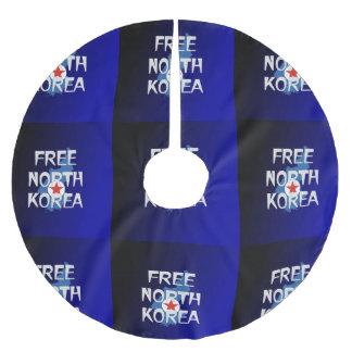 CAMISETA Corea del Norte libre Falda Para Arbol De Navidad De Poliéster