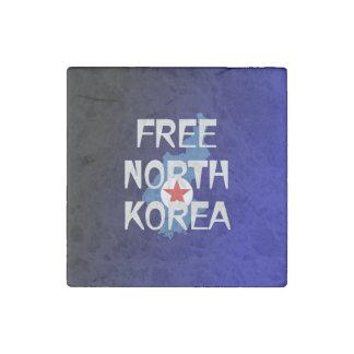 CAMISETA Corea del Norte libre Imán De Piedra