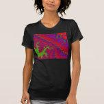 Camiseta coronada del arte del fractal de la joya