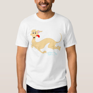 Camiseta corriente del conejo y del galgo playeras