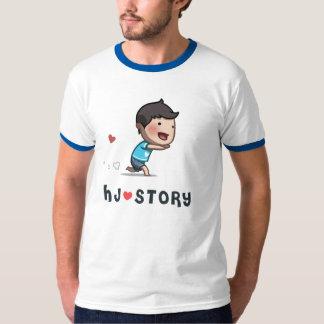 Camiseta corriente del muchacho de la HJ-Historia Playera