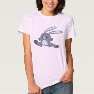Camiseta corriente linda de las mujeres del conejo poleras